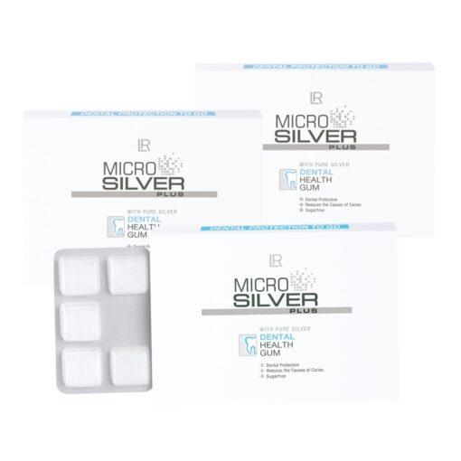 Microsilver Plus Žuvačky pre zdravé zuby a ďasná 3 balenia