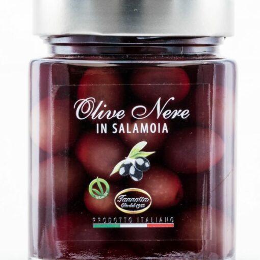 tmavé-olivy-v-slanom-náleve-320g-Iannotta-Gourmet-Artisan-600×600