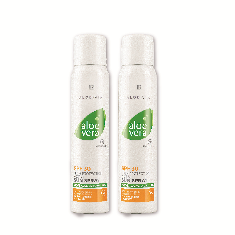Aloe Vera Sun Active Opaľovací sprej LSF 30 Séria 2 ks