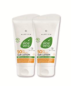 Aloe Vera Sun Opaľovací krém LSF 50 Séria 2 ks